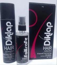 Brand World Presents Diklap Hair Building , Hair Fiber, Water Resistant, For Men And Women 6 Gram
