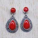 925 Sterling Silver Tiger Eye Gemstone Handmade Jewelry Stud Earring SJWES-44