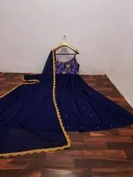 Embroidery Georgette Gown