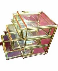 Rectangle Glass Jewellery Drawer Box, For Home, Size: 4x4 Inches