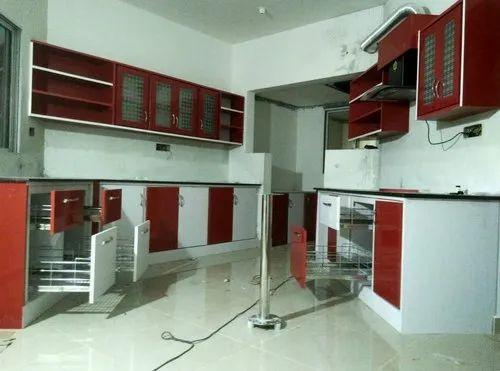 Plastic Pvc Stylish Kitchen Cabinet Rs 300 Square Feet Hindustan Doors Interiors Id 22920451730