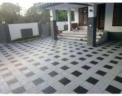 White And Black Gilt Rock Tiles, For Flooring