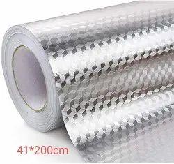 防油防水铝箔贴纸厨房墙纸自粘(41x200cm)