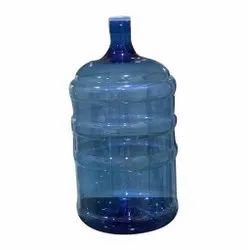 Blue 20 Liter Plastic Mineral Water Jar, Size: 12 X 12 X 15 Cm
