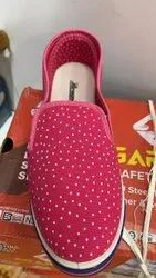 Slip On Women Ladies Pink Canvas Shoes, Size: 5-8