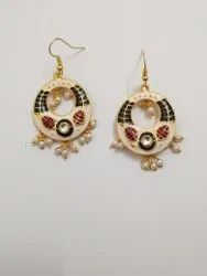 Chandbali Earrings Meenakari Meenakari Kundan Stone Earrings Or Jumki Kundan Meena