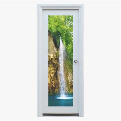 Steel,Glass Designer Single Bathroom Door
