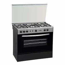 A.K. Metals Stainless Steel 5 Burner Cooking Range