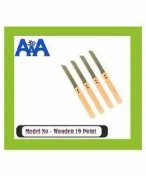 Wooden 19 Point Vegetable Knife