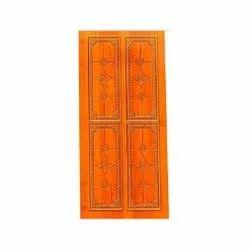 Interior Teak Wood Carving Door, Size: 6x2.5 Feet