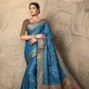 Reeva Soft Banarasi Silk Saree Set Wholeseller