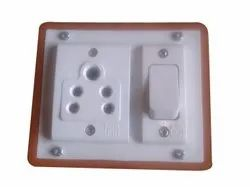 For Home & Office White PVC ELECTRIVSwitch Board, 01, 5 Ampere