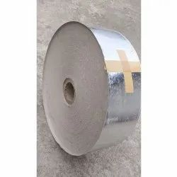 Plain Silver Laminated Kraft Paper Roll, For Disposable Dona Making, GSM: 120