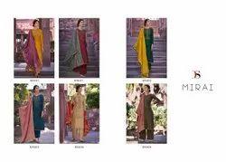 Deepsy Suit Semi-stitched Embroidered Ladies Silk Salwar Kameez, Dry Clean