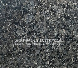 Rajasthan Crystal Black Granite, Slab, Thickness: 15-20 mm