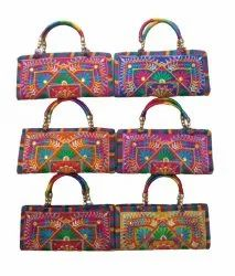 Embroidery Cotton Embroidered Stylish Purse