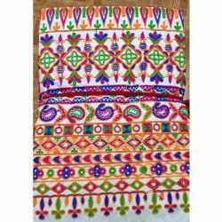 Silk Thread Work Gamthi Fabric, For Garments