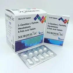 L Carnitine L Tartrate 500 MG+MECOBALAMIN 1500 MCG+FOLIC ACID 1.5 mg