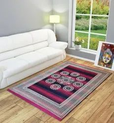 For Home Pink Printed Floor Carpet