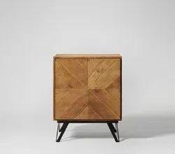 Brown Modern BD 1012 Wooden Bedside Table, For Home
