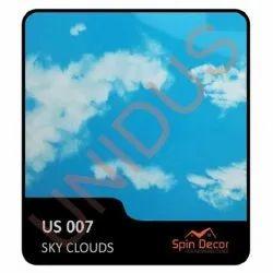US007 PVC Plastic Ceiling Tiles Sky Clouds