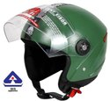 Grand Open Face Helmet (Military Green)