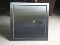 SS finish Stainless Steel Side Hinged Standard Door, For Linen Disposal Doors, Size/Dimension: Sizes Vary From 12 To 28
