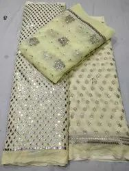 For Garments Embroidered Net Booties And Both Side Border Concept