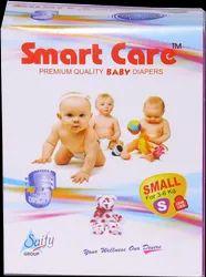 白色智能护理婴儿尿布(小)90件PCS,年龄组:新出生