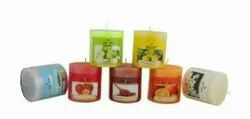 Cylindrical Aroma 3x3 Scented Pillar, Packaging Type: Individual Box