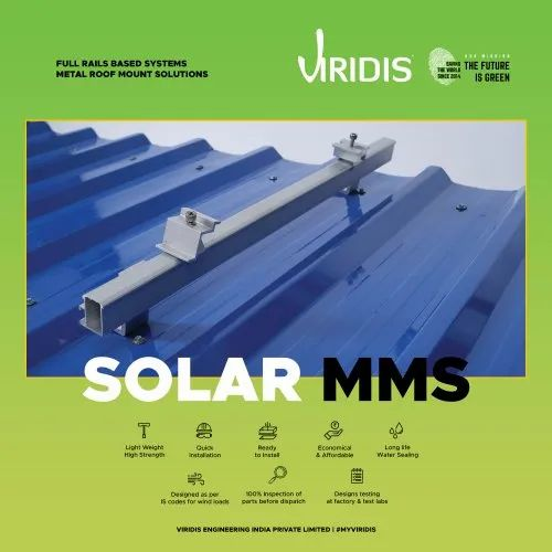 Solar Module Mounting Structure - Full Rails Based Systems - Metal Roof Mount Solutions