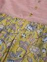 Jaipur Kurti Yellow Printed Flared Dress