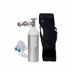 Portable Aluminium Oxygen Cylinder 3Ltr With Regulator