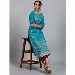 Women's Pure Cotton Kurta (JNE3547)