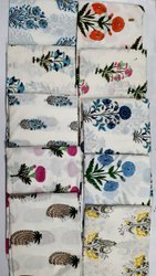Hand Block Printed Knitted Cotton Fabric