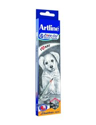Graphite Wood Artline Love - Art 6 Sketch Pencils