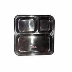 3 Compartment Steel Plate
