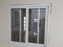 White Residential UPVC Mesh Window