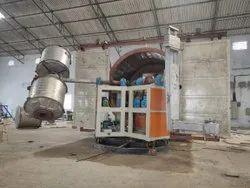 40 HP Two Arm Bi Axial Rotomoulding Machine