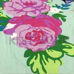 Cotton Floral Printed Single Jersey Fabric, GSM: 120 to 200