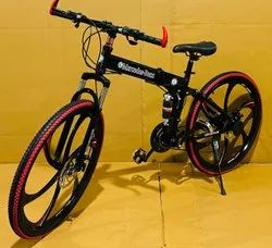 Black Mercedes Benz Foldable Cycle