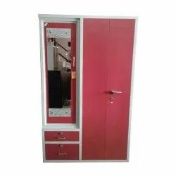 Imperial Furniture Pink Steel Almirah With Dressing Table, For Home, Size: 78x36x2 Inch