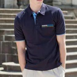 Plain Cotton Polo Corporate T Shirt
