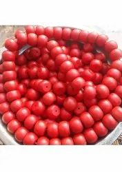 Round Red Glass Beads, Packaging Size: 1 Kg, Size: 10Mm