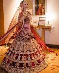 Bridal Lehenga Choli With Embroidery Work