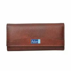 Adone Genuine Leather Brown Wallet For Women and Girls.