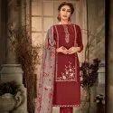 Brij Heer Unstitched Salwar Suit - 8 Pcs Set