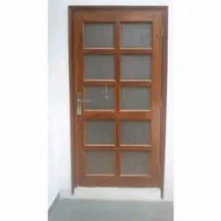 Teak Wood Door With Net, For Home