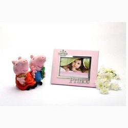 Pink Crown Silver-Plated Photo Frame With Princess