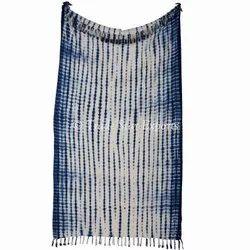Indian Cotton Shibori Hand Tie Dyed Bedding Throw Blanket